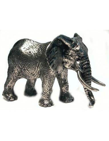 Eléphant sujet en étain